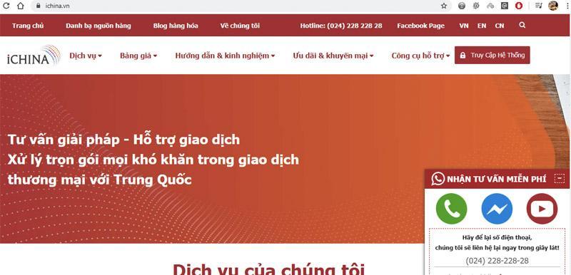 Truy cập vào hệ thống quản trị của iChina Company để dễ dàng quản lý đơn hàng